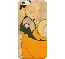 Henri de Toulouse-Lautrec  - Jane Avril (1893) Woman Portrait Fashion iPhone Case/Skin