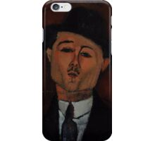 Amedeo Modigliani - Paul Guillaume, Novo Pilota 1915 Italian  Elegant Man Portrait Fashion  iPhone Case/Skin