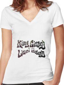 King Gizzard & The Lizard Wizard Women's Fitted V-Neck T-Shirt