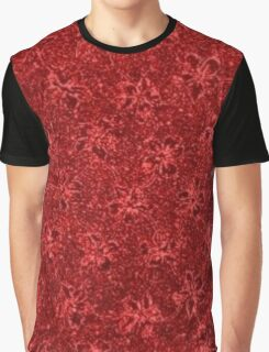 Vintage Floral Ribbon Red Graphic T-Shirt