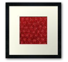 Vintage Floral Ribbon Red Framed Print