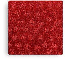 Vintage Floral Ribbon Red Canvas Print