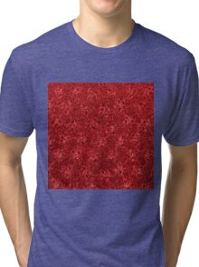 Vintage Floral Ribbon Red Tri-blend T-Shirt