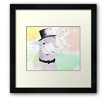 Smokin' sheep Framed Print