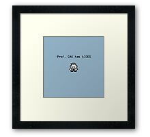 Prof. Oak has Aides Framed Print
