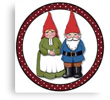 Gnome Couple, Fantasy Art, Whimsical Canvas Print