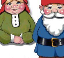 Gnome Couple, Fantasy Art, Whimsical Sticker