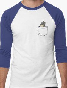Totoro Pocket Men's Baseball ¾ T-Shirt