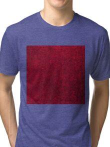 Vintage Floral Ruby Garnet  Tri-blend T-Shirt