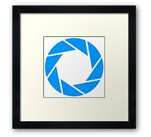 Aperture science logo merch! Framed Print
