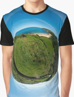 Kinnagoe Bay (as a floating green planet) Graphic T-Shirt
