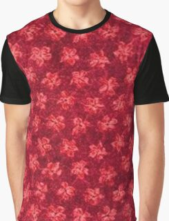 Vintage Floral Ruby Red Graphic T-Shirt