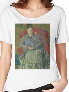 Paul Cezanne - Madame Cezanne in a Red Armchair  1877 Women's Relaxed Fit T-Shirt