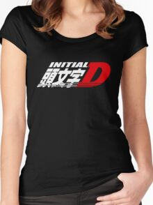 Initial D Women's Fitted Scoop T-Shirt