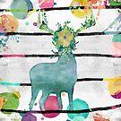 Funky Deer - Funky Hirsch by Martina Cross