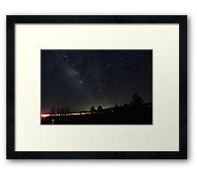 Hitchhiking through Williams Arizona Framed Print