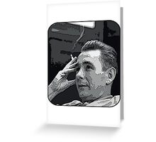 Smoking Cloughie - Brian Clough Greeting Card