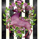 Flower Deer - Blumen mit Hirsch by Martina Cross