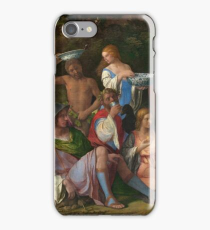 Tiziano Vecellio, Titian - The Feast of the Gods  iPhone Case/Skin