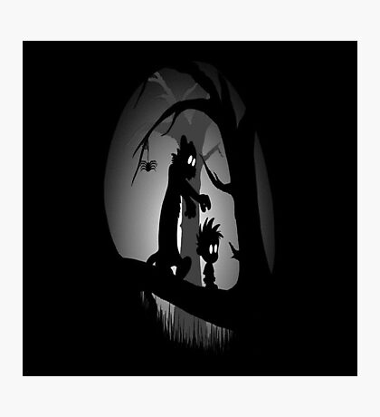 Calvin and Hobbes Horror  Photographic Print
