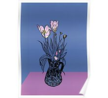 Wonky Flora Poster