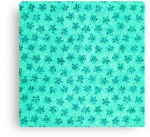 Vintage Floral Turquoise Mint Canvas Print