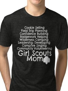 Girl Scouts Mom Daisy Brownie Cadette Junior Senior Ambassador Cookie Booth Troop Tri-blend T-Shirt