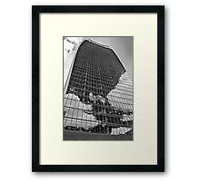 Black and White Walkie-Talkie, London Framed Print