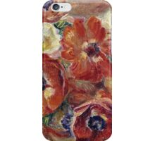 Renoir Auguste - Still Life With Anemones iPhone Case/Skin