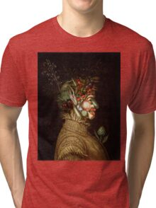 Giuseppe Arcimboldo - Summer 1572 , Fashion Portrait, Italian Handsome Man. Tri-blend T-Shirt