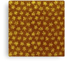 Vintage Floral Yellow and Brown Canvas Print