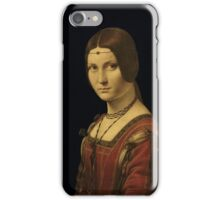 Leonardo Da Vinci - Portrait Of A Lady From The Court Of Milan  iPhone Case/Skin
