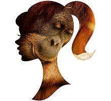 Orangutan Hides in Barbie Girl's Soul Photographic Print