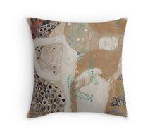 Gustav Klimt  - Water Serpents Throw Pillow