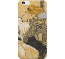 Juan Gris - Man and Woman on Bench 1908-1909 . Romance iPhone Case/Skin