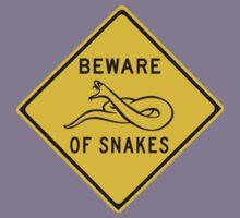 Beware of Snakes, Road Sign, Australia Kids Tee