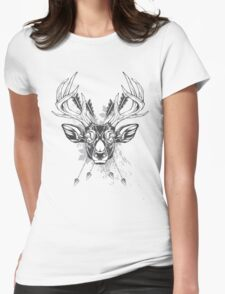 Wild deer Womens Fitted T-Shirt