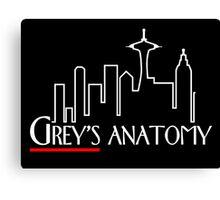 Grey's Anatomy x Frasier – Seattle TV Mashup Canvas Print