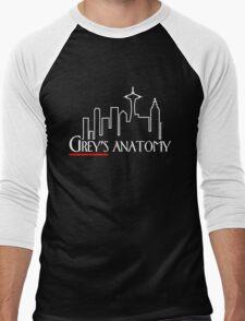 Grey's Anatomy x Frasier – Seattle TV Mashup Men's Baseball ¾ T-Shirt