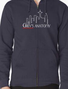 Grey's Anatomy x Frasier – Seattle TV Mashup Zipped Hoodie