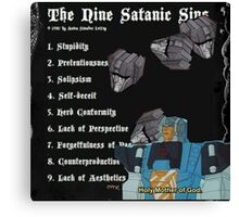 transformers sins (I do not own transformers) Canvas Print