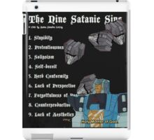 transformers sins (I do not own transformers) iPad Case/Skin