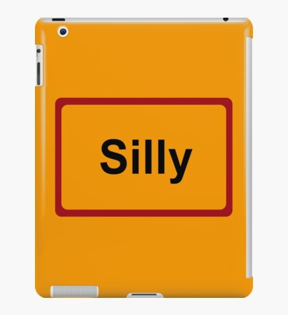 Silly, Road Sign, Belgium iPad Case/Skin