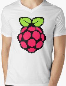 Raspberry Pi 8-Bit Mens V-Neck T-Shirt