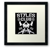 WWE AJ Styles Club Framed Print
