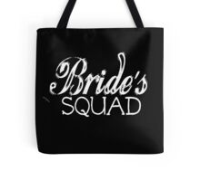 Bride's Squad Wedding Groom Bachelorette Party Bridal Shower Bride To Be Bridesmaid BFF Favors Wedding Planner Distressed Vintage Burnout  Tote Bag