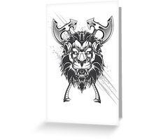 Wild lion Greeting Card