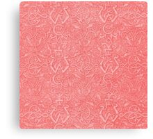 Vintage Triskle Celtic Trinity Knot Coral Peach Canvas Print