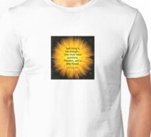 'Dandelion Fire' with Hans Christian Andersen 'Just living..' quotation Unisex T-Shirt
