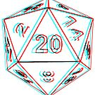 3D D20 Dice by MangaKid